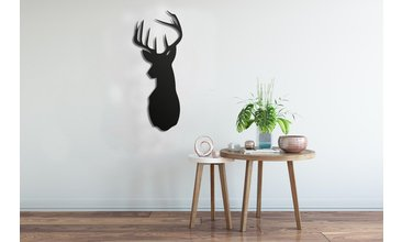 BLACK DEER METAL TABLO