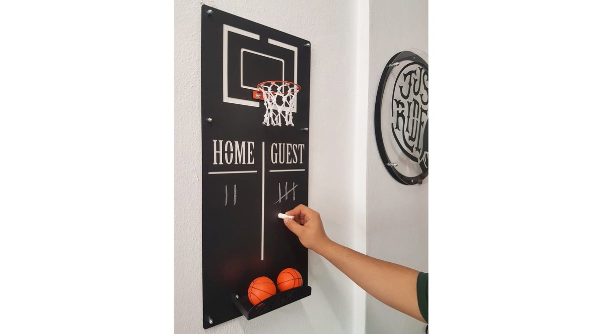 BASKETBALL WALL DECO