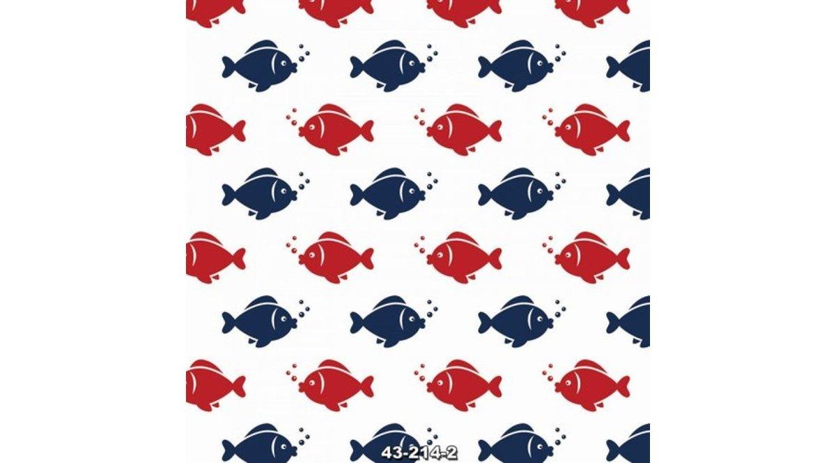 Balık desenli duvar kağıtları