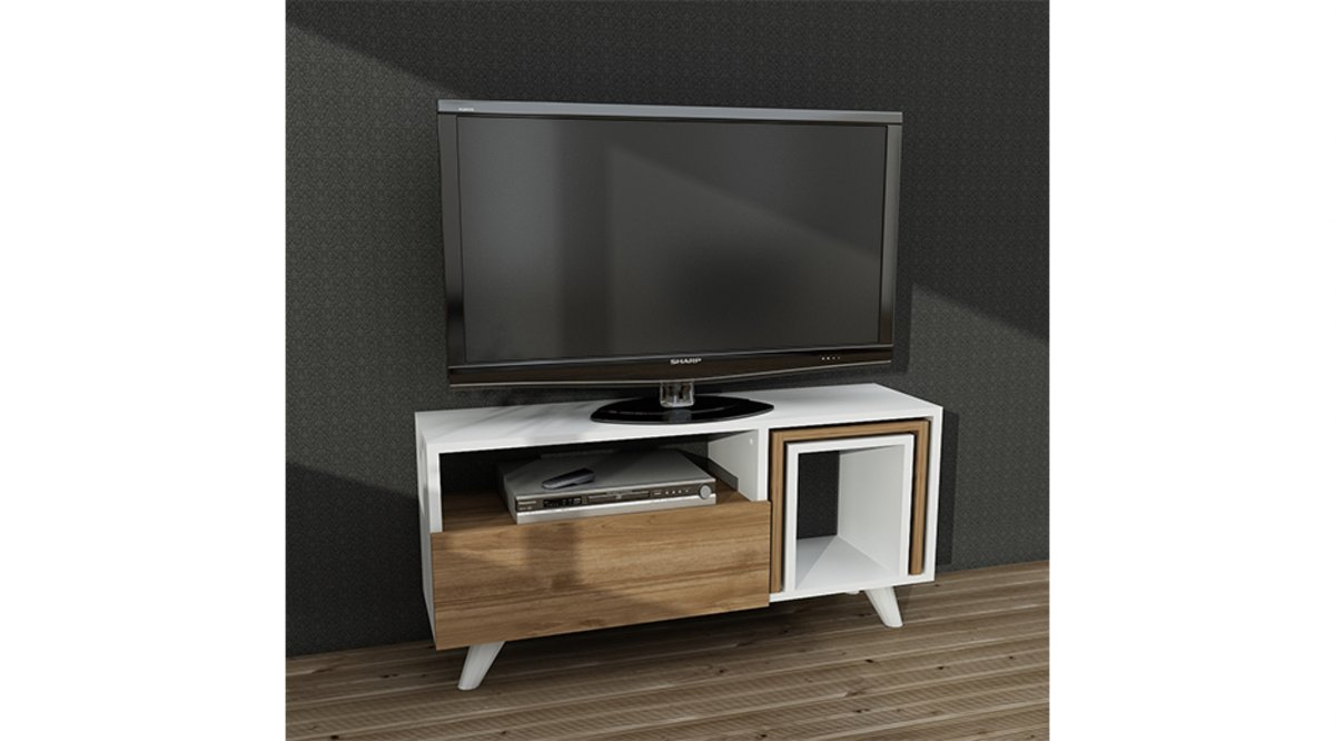 freja tv sehpasi beyaz cev z 90 cm vivense. Black Bedroom Furniture Sets. Home Design Ideas