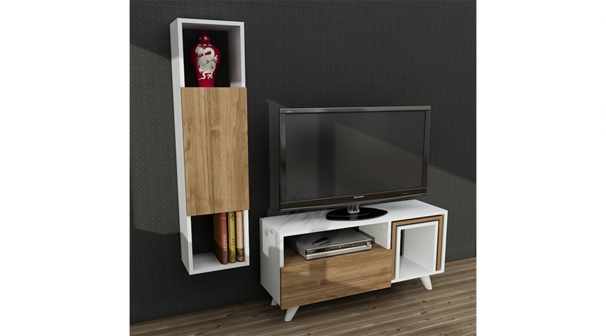 laura tv n tes beyaz cev z 90 cm vivense. Black Bedroom Furniture Sets. Home Design Ideas