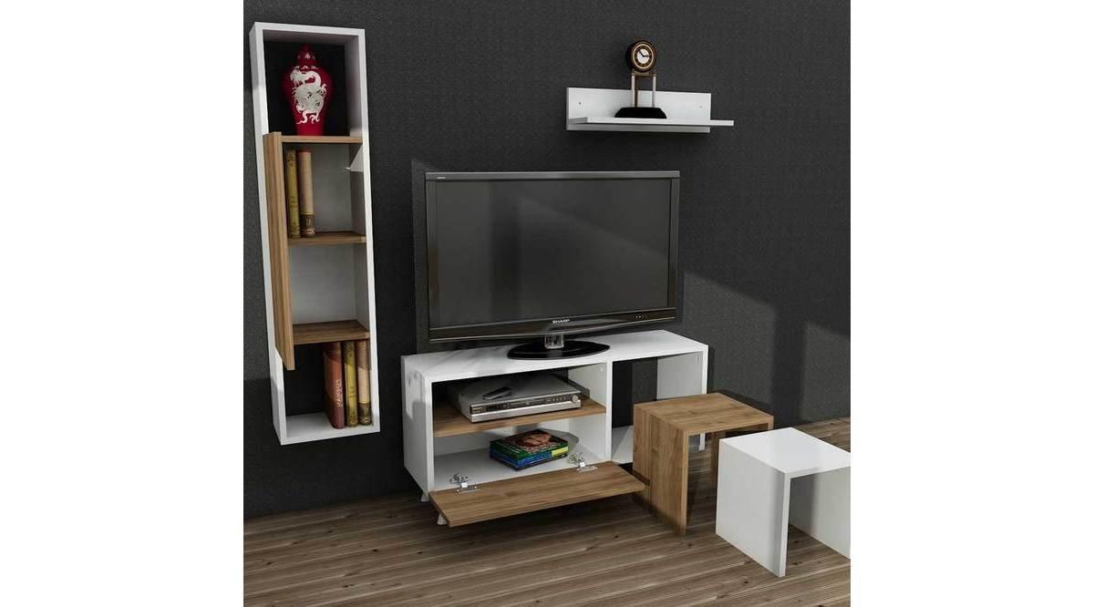 tr ll tv n tes beyaz cev z 90 cm vivense. Black Bedroom Furniture Sets. Home Design Ideas