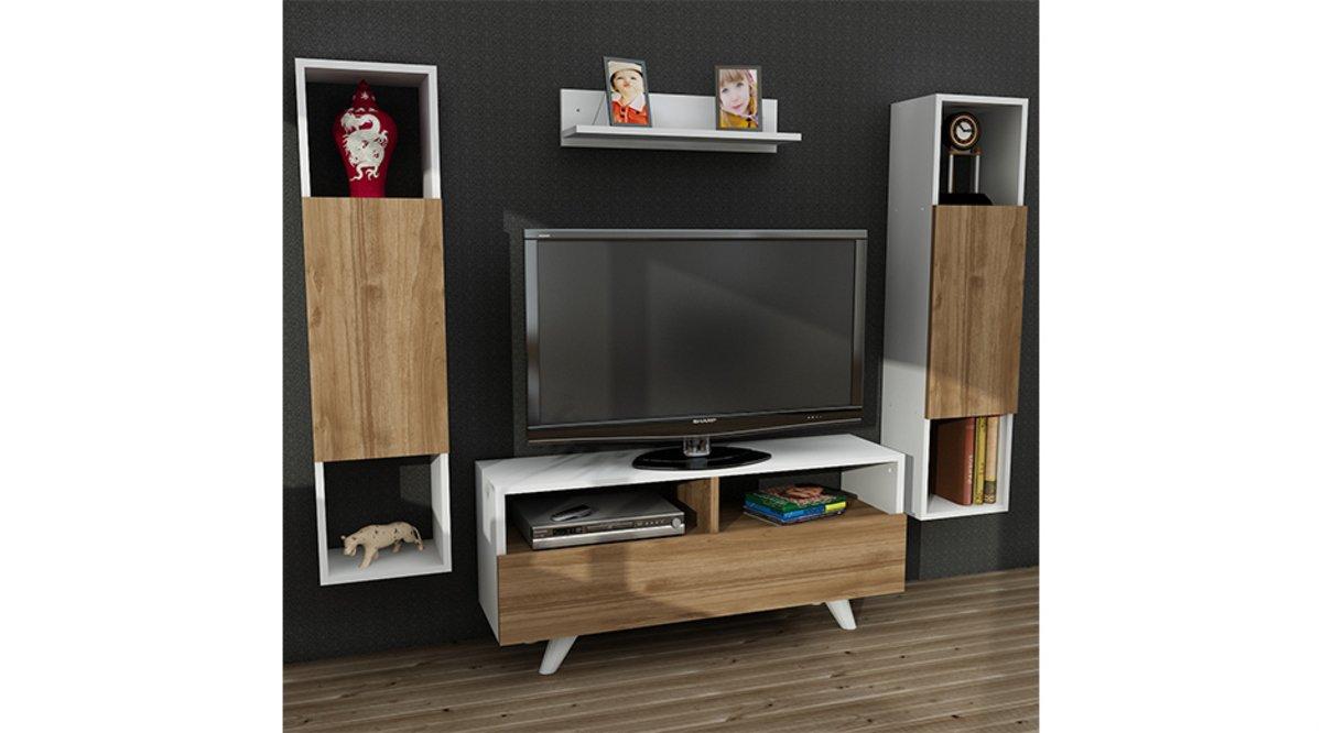 trello tv n tes beyaz cev z 90 cm vivense. Black Bedroom Furniture Sets. Home Design Ideas