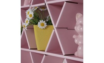 HEXAGON KARTON PETEK RAF PEMBE-MEDİUM