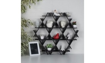 HEXAGON KARTON PETEK RAF SİYAH-MEDİUM