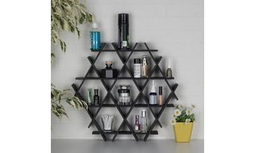 HEXAGON KARTON PETEK RAF SİYAH-SMALL