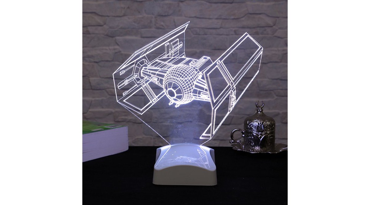 ÜÇ BOYUTLU TIE FİGHTER STAR WARS LAMBA V23D149