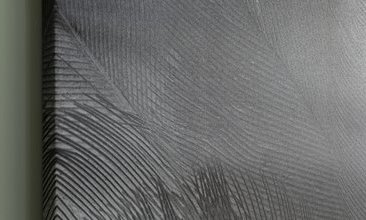 FEATHER BLACK KANVAS BASKI 75X100 CM