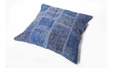Cushion Blue Patchwork Yastık