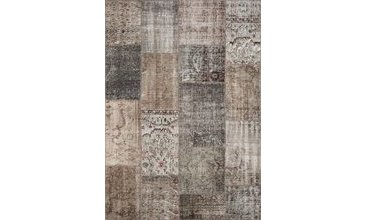 GREY PATCHWORK HALI