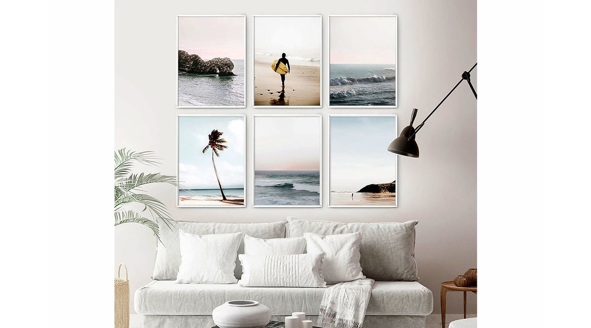 OCEANWALL SURFING ALTILI TABLO SETİ 50X70