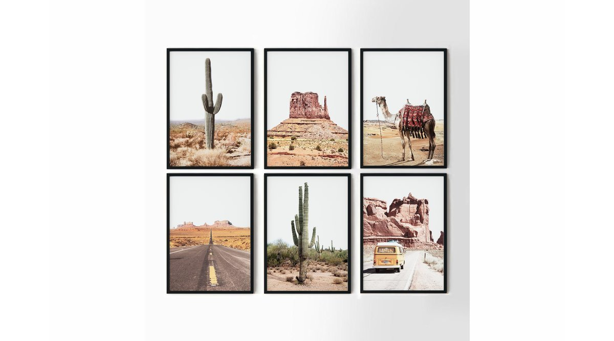 ARIZONA SOUTHWEST ALTILI TABLO SETİ 21X30