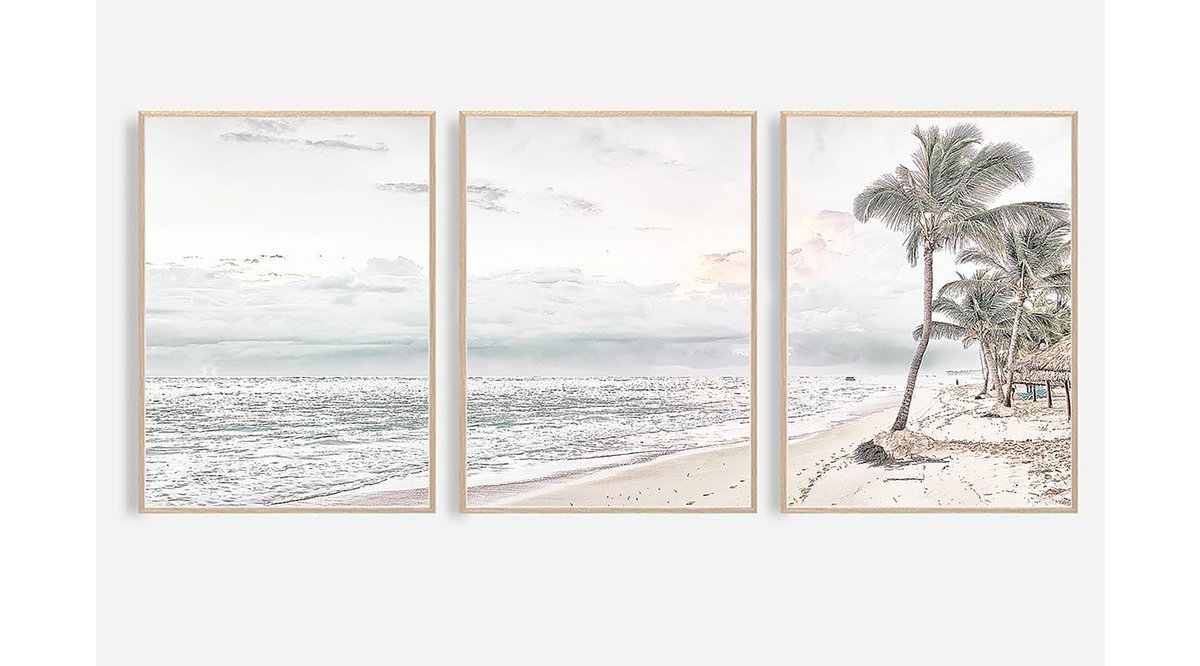 TROPICAL PALM BEACH TABLO 33X48