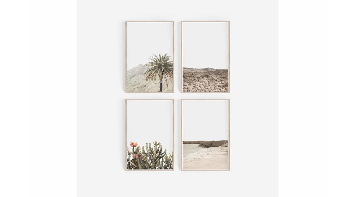 CALIFORNIA DESERT DÖRTLÜ TABLO SETİ 50X70