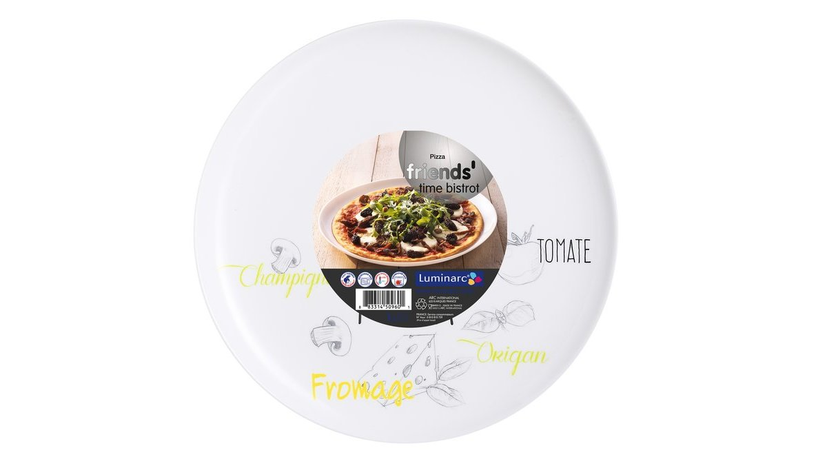 FRİEND'S TİME BİSTRO DESENLİ PİZZA TABAĞI 32 CM