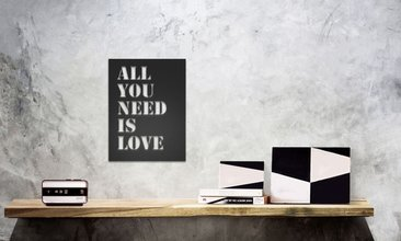 All You Need İs Love Metal Duvar Tablosu