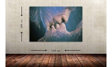 KISS DEKORATİF DEV BOYUT CANVAS TABLO 100X150 CM