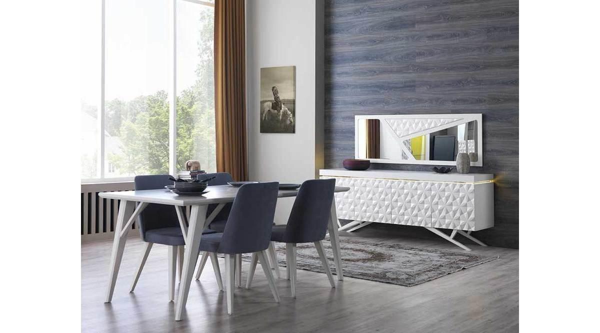royal yemek odasi takimi beyaz vivense. Black Bedroom Furniture Sets. Home Design Ideas