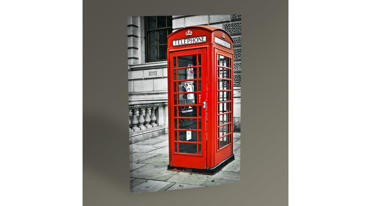 LONDON PHONE BOOTH TABLO