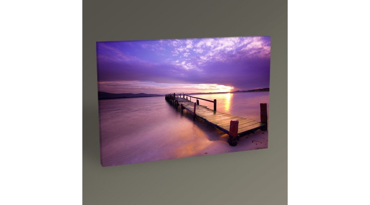 PURPLE SUNSET TABLO