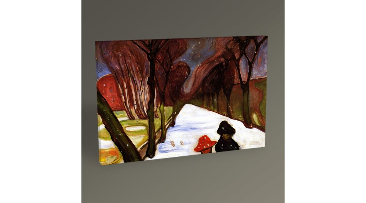EDVARD MUNCH SNOW FALLİNG İN THE LANE TABLO