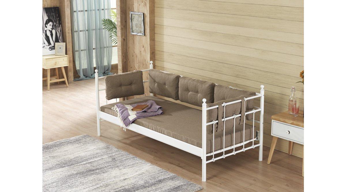 Lalas 90x200 beyaz sofa mindersiz vivense for Divan 90x200