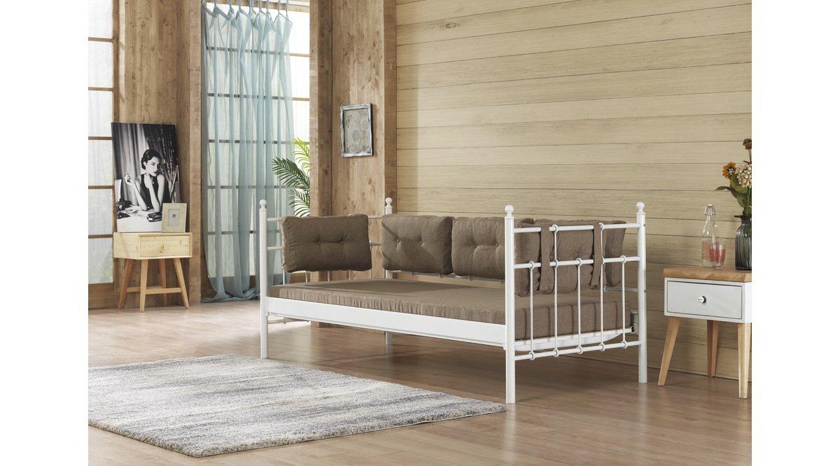 Lalas 90x200 beyaz sofa mindersiz vivense for Sofa 90x200