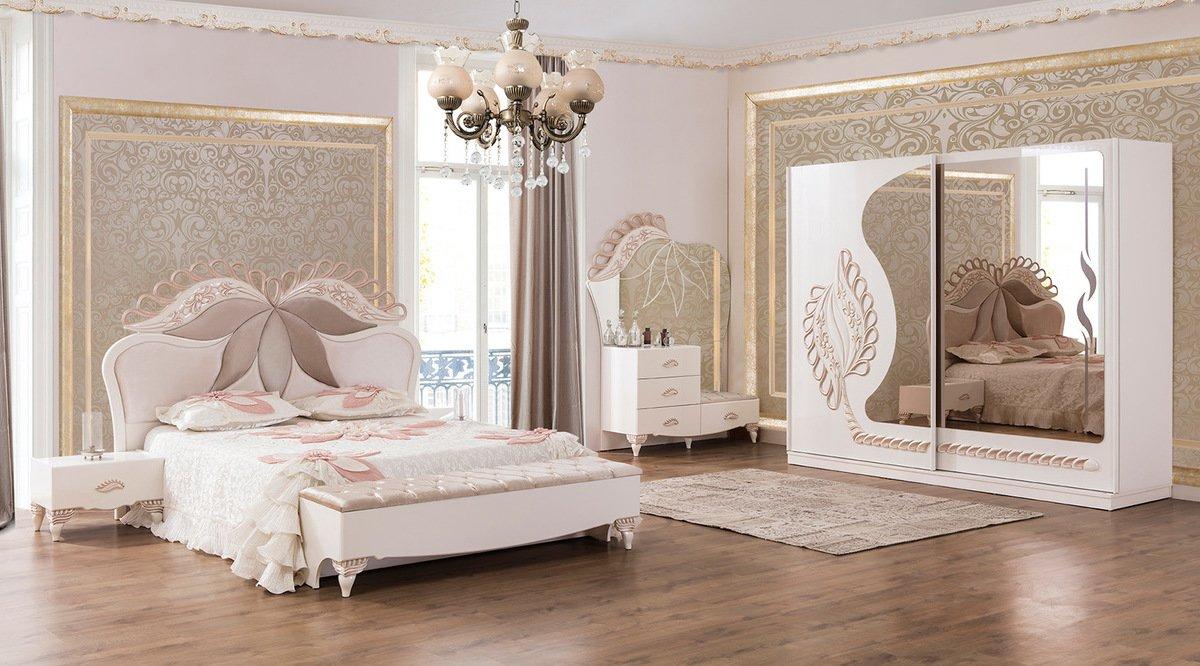Beyaz Inci Yatak Odasi Takimi
