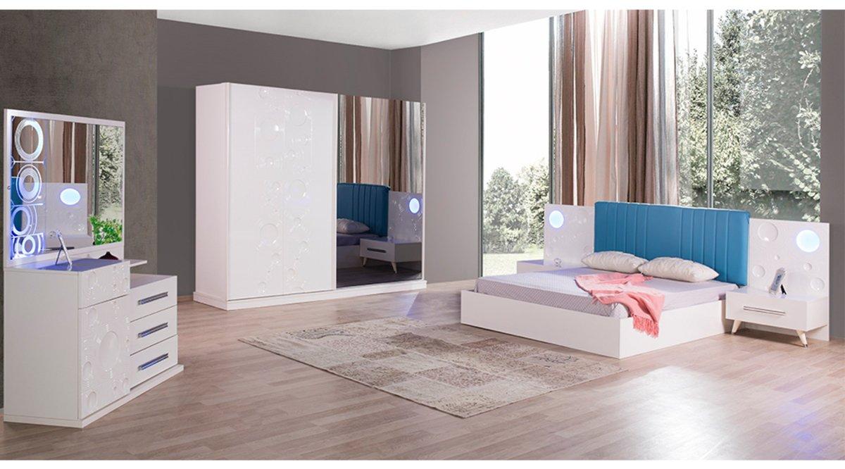 Sade Yatak Odasi Takimi Beyaz
