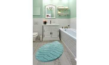 JUNGLE LEAF MİNT 60X100 CM BANYO HALISI