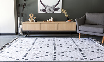 Mood Rugs Diamond Halı Ecru Grey