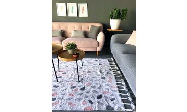 MOOD RUGS MOSAİC HALI ECRU GREY